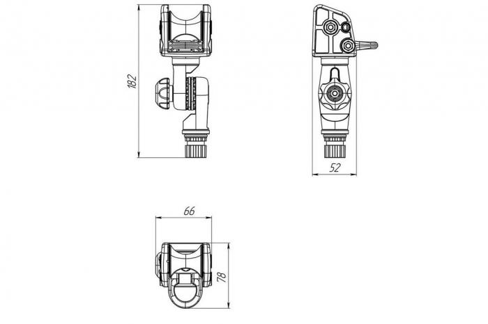 Suport rola cu un inel ancorare cu mecanism de înclinare FASTen BORIKA ARr003 [5]