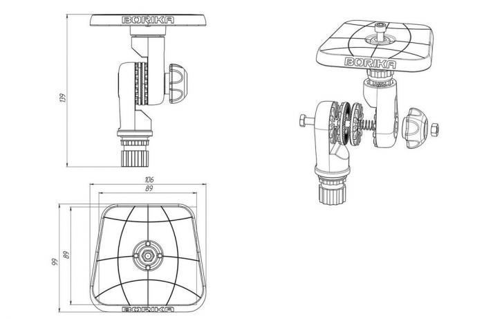 Suport sonar articulat FASTen BORIKA SLt223 (100 * 100 mm) [3]