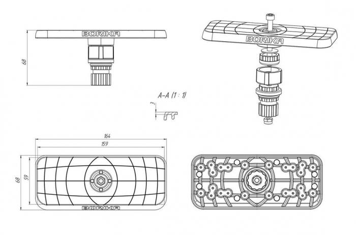 """Suport sonar FASTen BORIKA Ss223 7""""-9"""" [3]"""