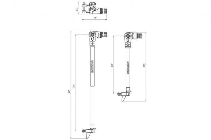 Suport sonda sonar FASTen BORIKA Ft500 Lungime reglabila [7]