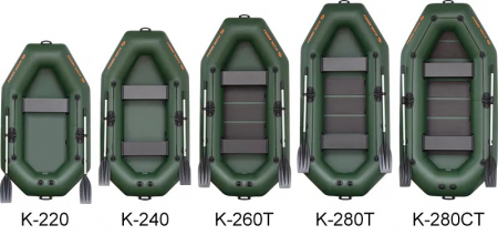 Barca K-260TS + podină pliabilă semirigidă5