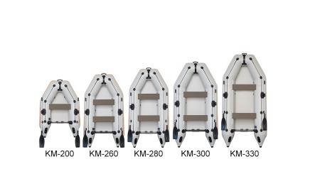 Barca KM-280 + podină Tego4