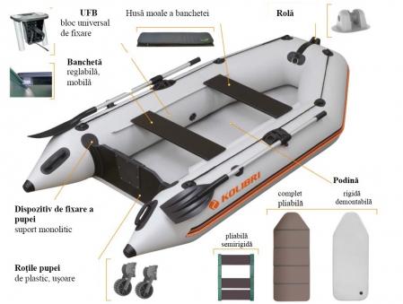Barca KM-300 + podină pliabilă semirigidă cu extindere6