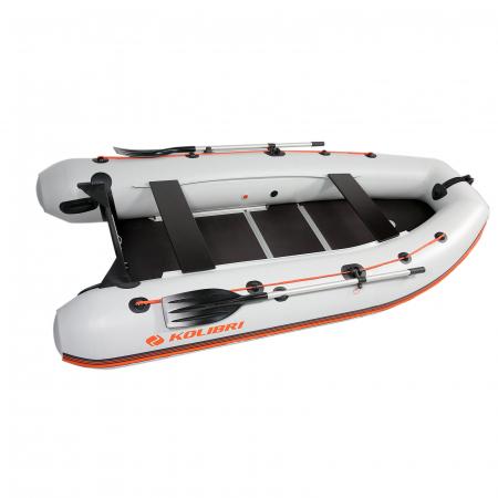 Barca Pneumatica KM-330DSL + podina regidă tego, întarită cu profil de aluminiu [1]