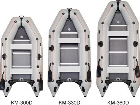 Barca KM-360D + podina regidă tego, întarită cu profil de aluminiu4