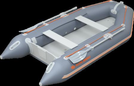 Barca KM-360D + podina rigidă tego, întarită cu profil de aluminiu0