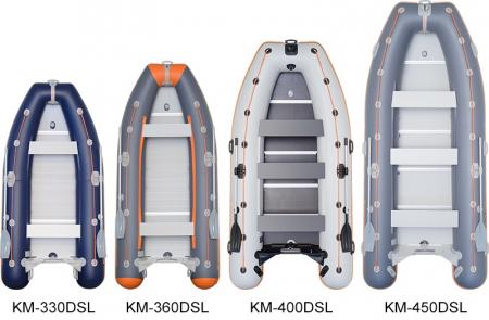 Barca KM-400DSL + podina regidă tego, întarită cu profil de aluminiu3
