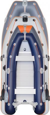 Barca KM-400DSL + podina regidă tego, întarită cu profil de aluminiu2