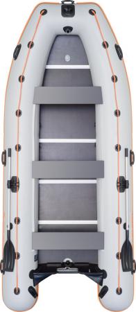 Barca KM-450DSL + podina regidă tego, întarită cu profil de aluminiu1