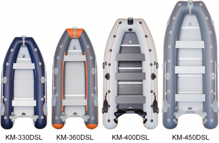 Barca KM-450DSL + podina regidă tego, întarită cu profil de aluminiu3