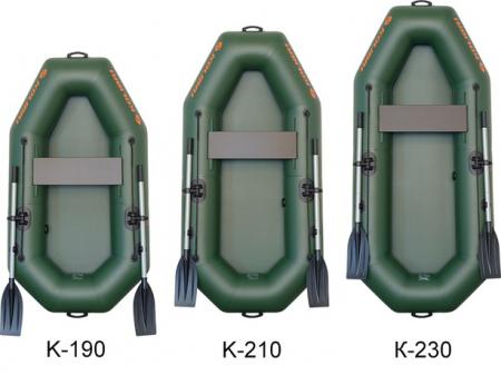 Barca K-190 + podină pliabilă semirigidă6