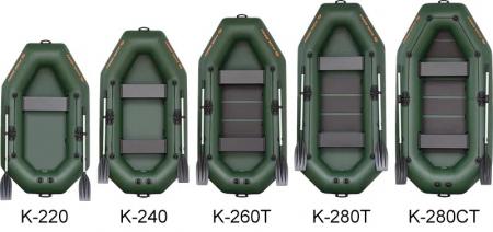 Barca K-240TS + podină pliabilă semirigidă5