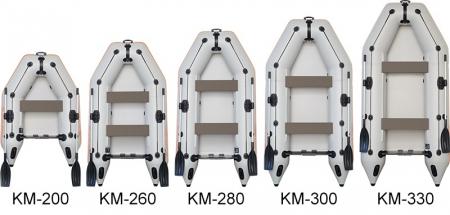 Barca KM-260 + podină pliabilă semirigidă4