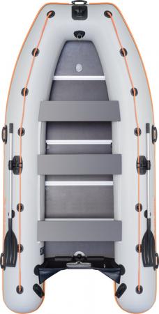 Barca KM-400DSL + podina regidă tego, întarită cu profil de aluminiu1
