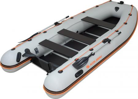 Barca KM-400DSL + podina regidă tego, întarită cu profil de aluminiu0