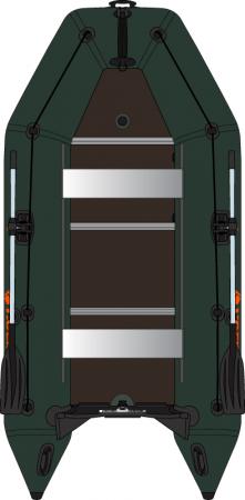 Barca KM-330D + podina rigidă tego, întarită cu profil de aluminiu1