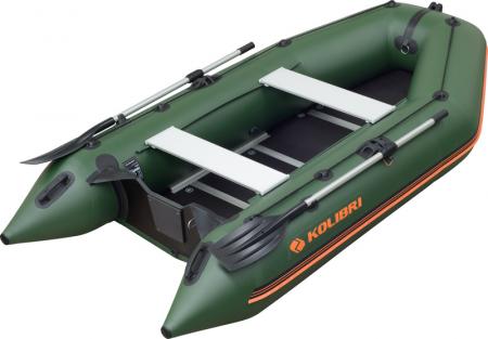 Barca KM-330D + podina rigidă tego, întarită cu profil de aluminiu0