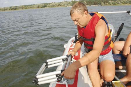 Scara aluminiu pliabila pentru barcă gonflabila FASTen BORIKA FLp032 + set Fmp225 [6]