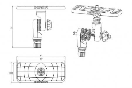 Suport sonar articulat FASTen BORIKA SSt223 164 * 68 mm [7]