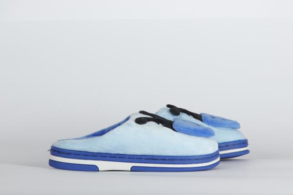 papuci de camera  copii  culoare albastru moldova 1