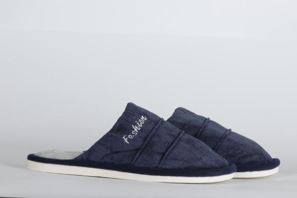 papuci de camera  culoare albastru inchis pentru barbati md 1