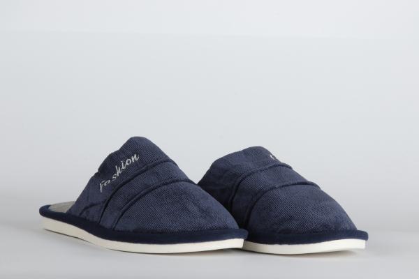 papuci de camera  culoare albastru inchis pentru barbati md 2