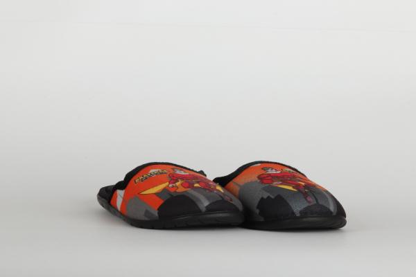 papuci de casa copii pentru baieti culoare negru-orange chisinau 2