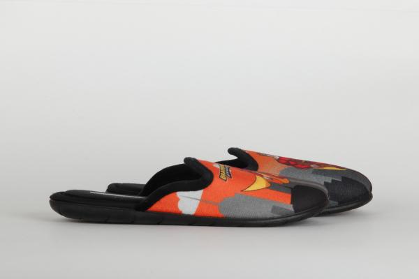 papuci de casa copii pentru baieti culoare negru-orange chisinau 1
