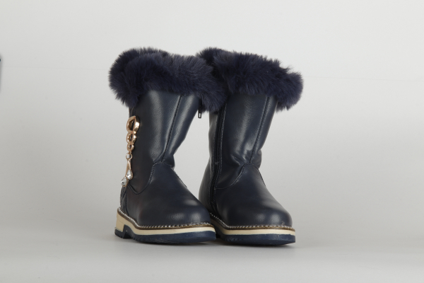 cizme de iarna lungi albastru inchis  pentru copii fete chisinau 2