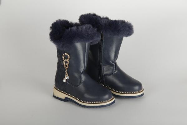 cizme de iarna lungi albastru inchis  pentru copii fete chisinau 0