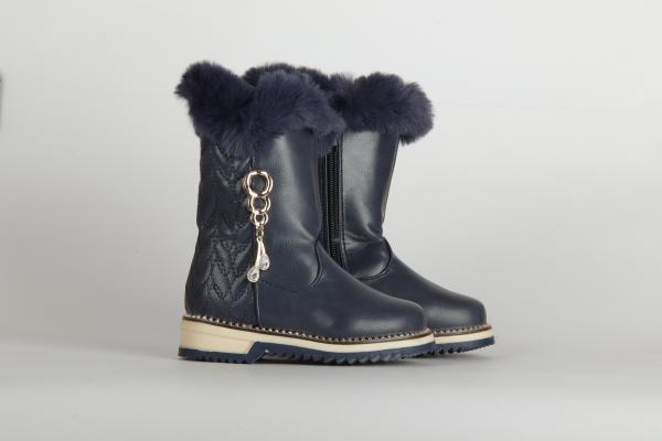 cizme de iarna lungi albastru inchis  pentru copii fete chisinau 1
