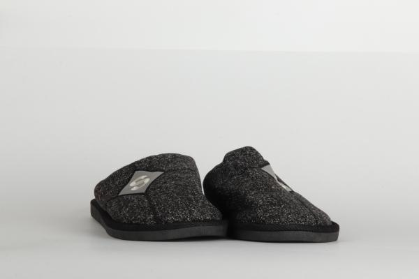 papuci casa barbati culoare negru 2