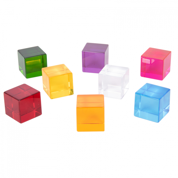 Set de 8 cuburi de percepție senzorială 0