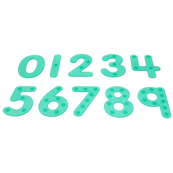 Numere amuzante verzi cu buline de trasat 0