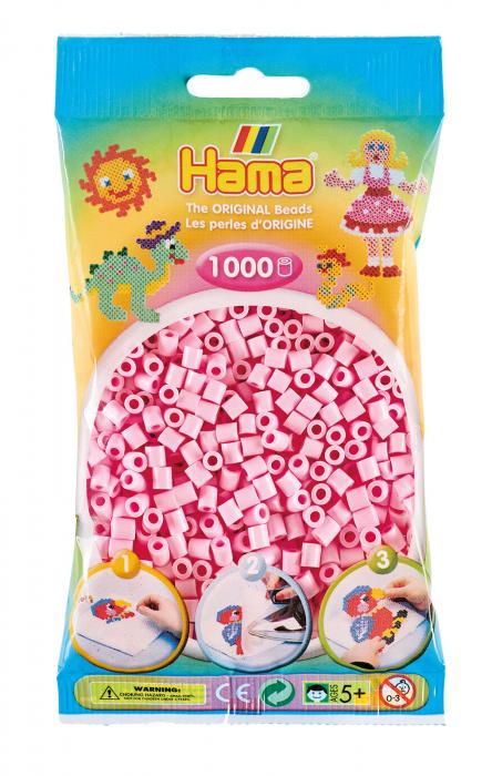 Mărgele de călcat HAMA MIDI Roz Pastel 1000 buc în punguliță 0