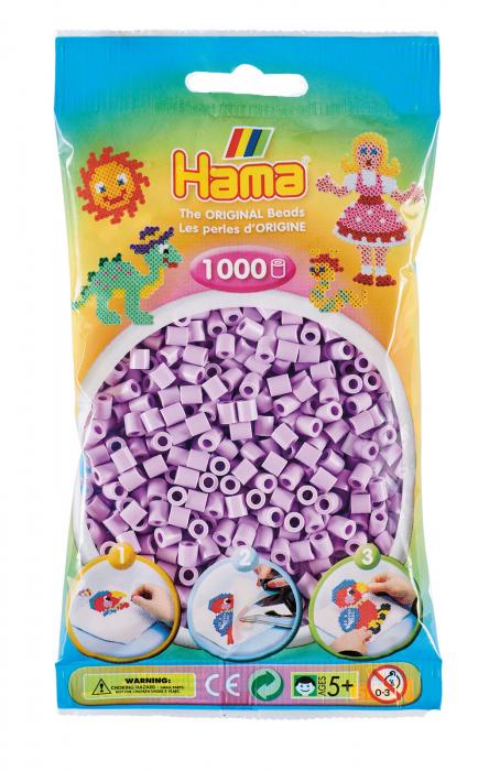 Mărgele de călcat HAMA MIDI Liliac Pastel 1000 buc în punguliță 0