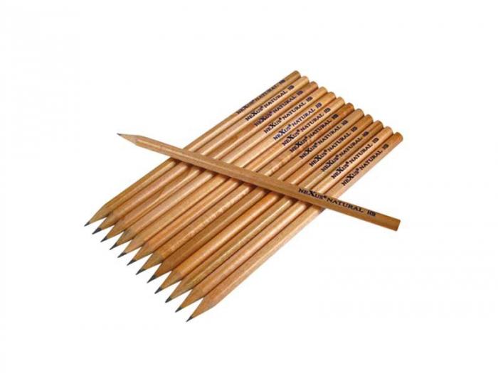 Set de 12 creioane HB hexagonale 2