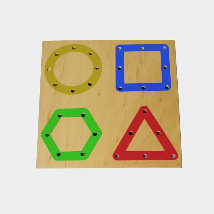 Tablă perforată pentru șnuruire - forme geometrice 0