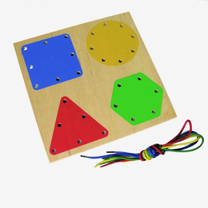 Tablă perforată pentru șnuruire - forme geometrice 1