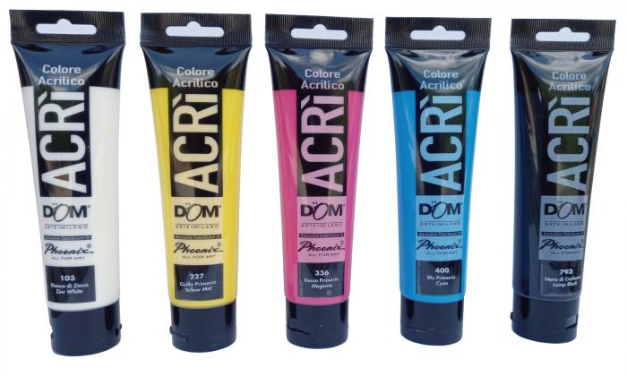Set de vopsea acrilică în 5 culori în tuburi de 100 ml [0]