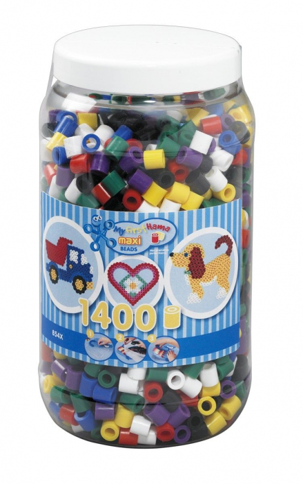1400 margele HAMA MAXI Mixt00 in borcan plastic 0