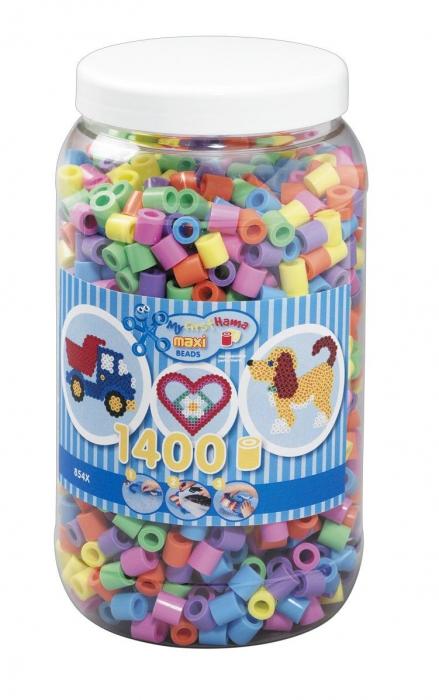 1400 margele HAMA MAXI Mixt50 in borcan plastic 0