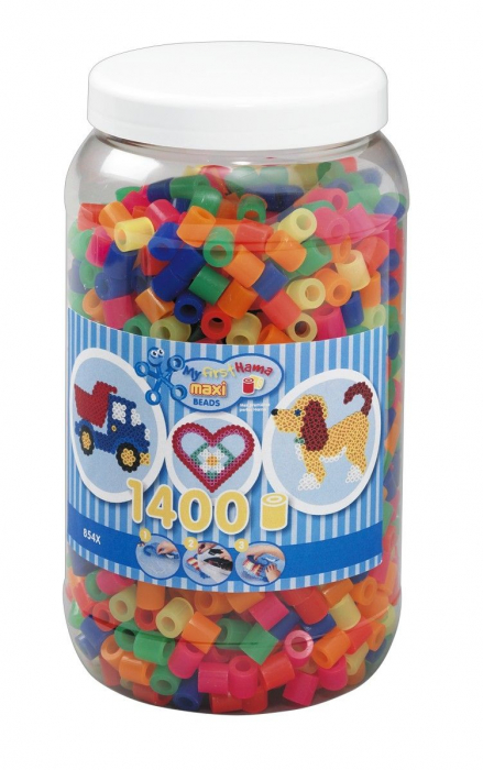 1400 margele HAMA MAXI Mixt51 in borcan plastic [0]