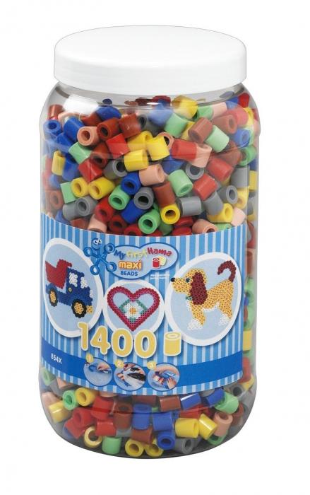 1400 margele HAMA MAXI Mixt69 in borcan plastic 0