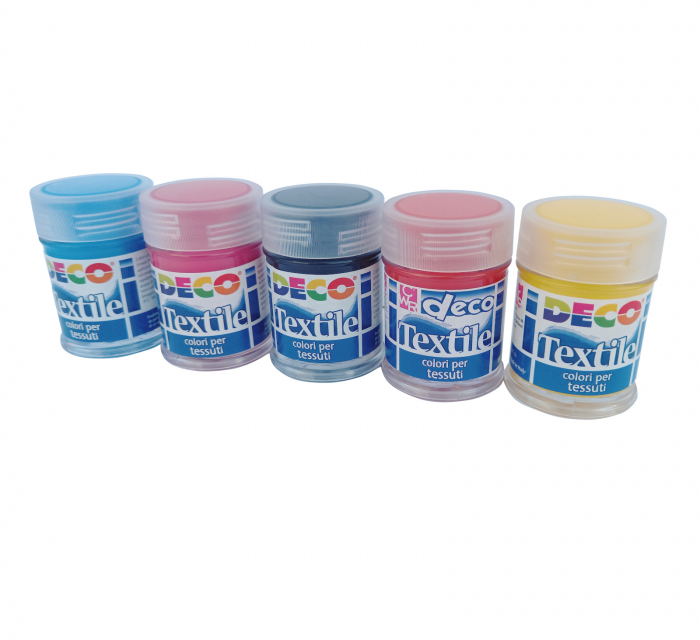 Set de 10 flacoane cu vopsea pentru material textil [2]