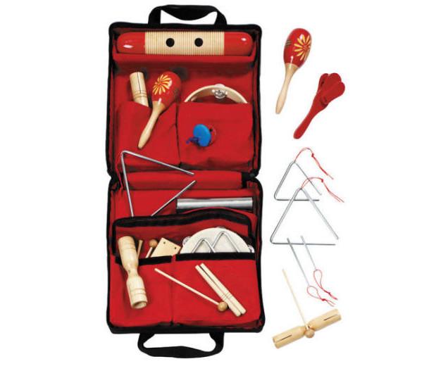 19 instrumente muzicale de joacă - set ritmicitate în sacoșă 1