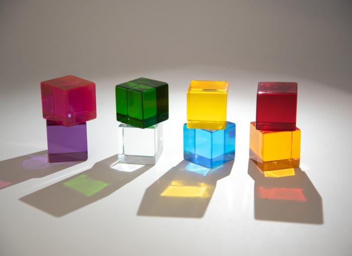 Set de 8 cuburi de percepție senzorială 1