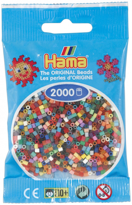 2000 margele HAMA MINI in pungulita 0