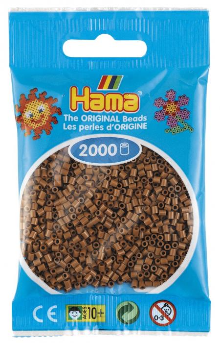 2000 mărgele Hama MINI în punguliță - maro nugat [0]