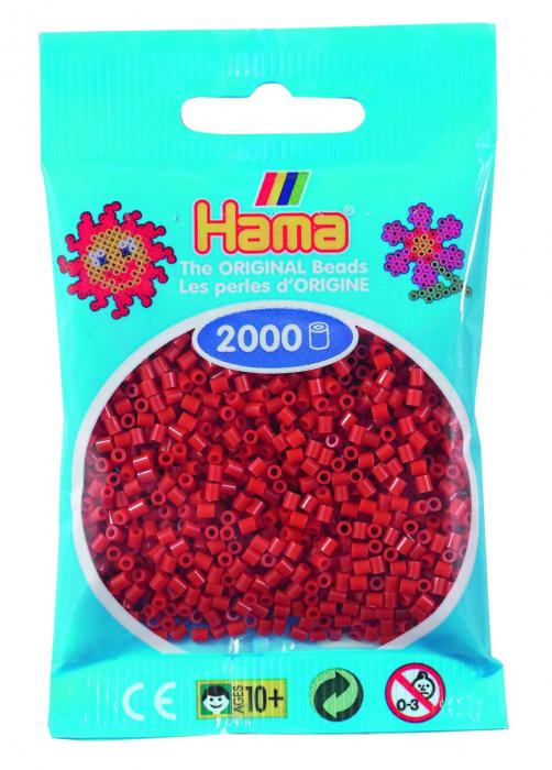 2000 mărgele Hama MINI în punguliță - maro roșiatic [0]